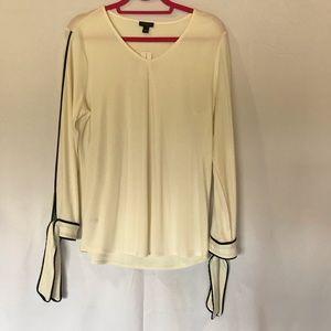 Ann Taylor Factory White long sleeve shirt L